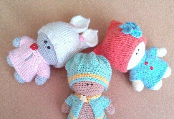схемы игрушек малыш йо йо в одежде вязаные куклы описание вязані