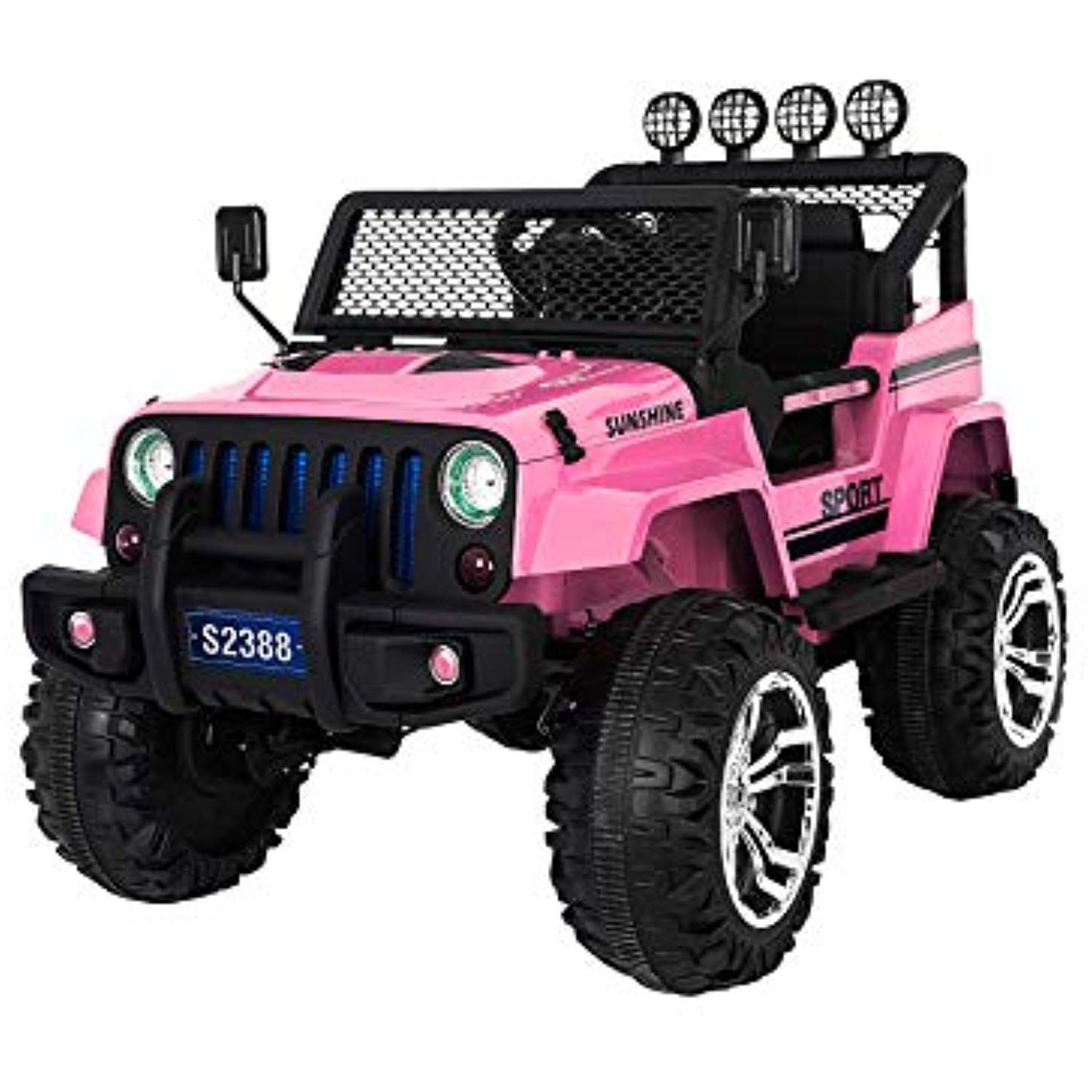 Jeep Style Ride on Car for Kids, RC Remote Control
