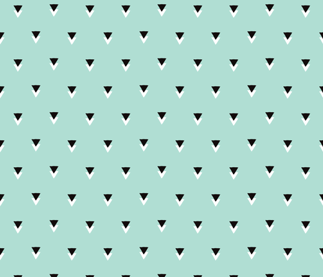 geometric tribal aztec triangle mint modern patterns fabric design by Little Smilemakers Studio // Maaike Boot - Home decor textile inspiration, fashion and wallpaper