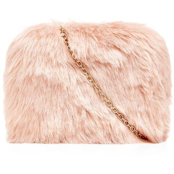 Pink faux fur shell bag YqrxAeSQuK