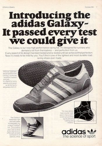 3 1980's Classic Adidas Tennis Shoe Print Ads with Billie
