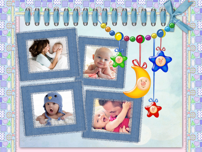 """Enjoy being a mom or a dad to a sweet child? Capture the first year of your baby's life in a cute """"I Love You"""" photo collage designed with http://ams-collage.com! #BabyCollage #CollageIdeas"""