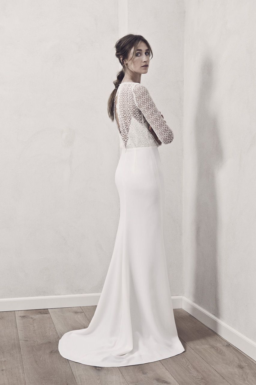 Idunn Simple Scandi Cool Wedding Dress By Maria Fekih