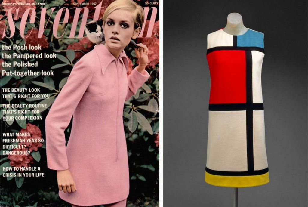 Different Types Of Lines In Fashion Designing : Mondrian dress influenced by surrealism cubism and op art this
