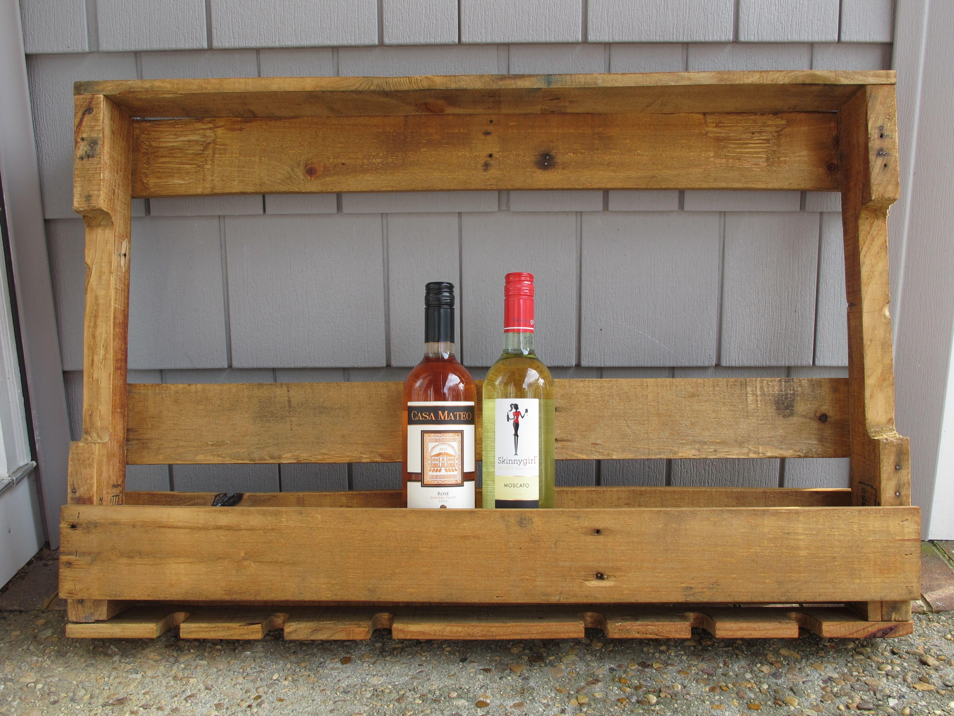 Reclaimed wood rustic wine rack wine bottle storage