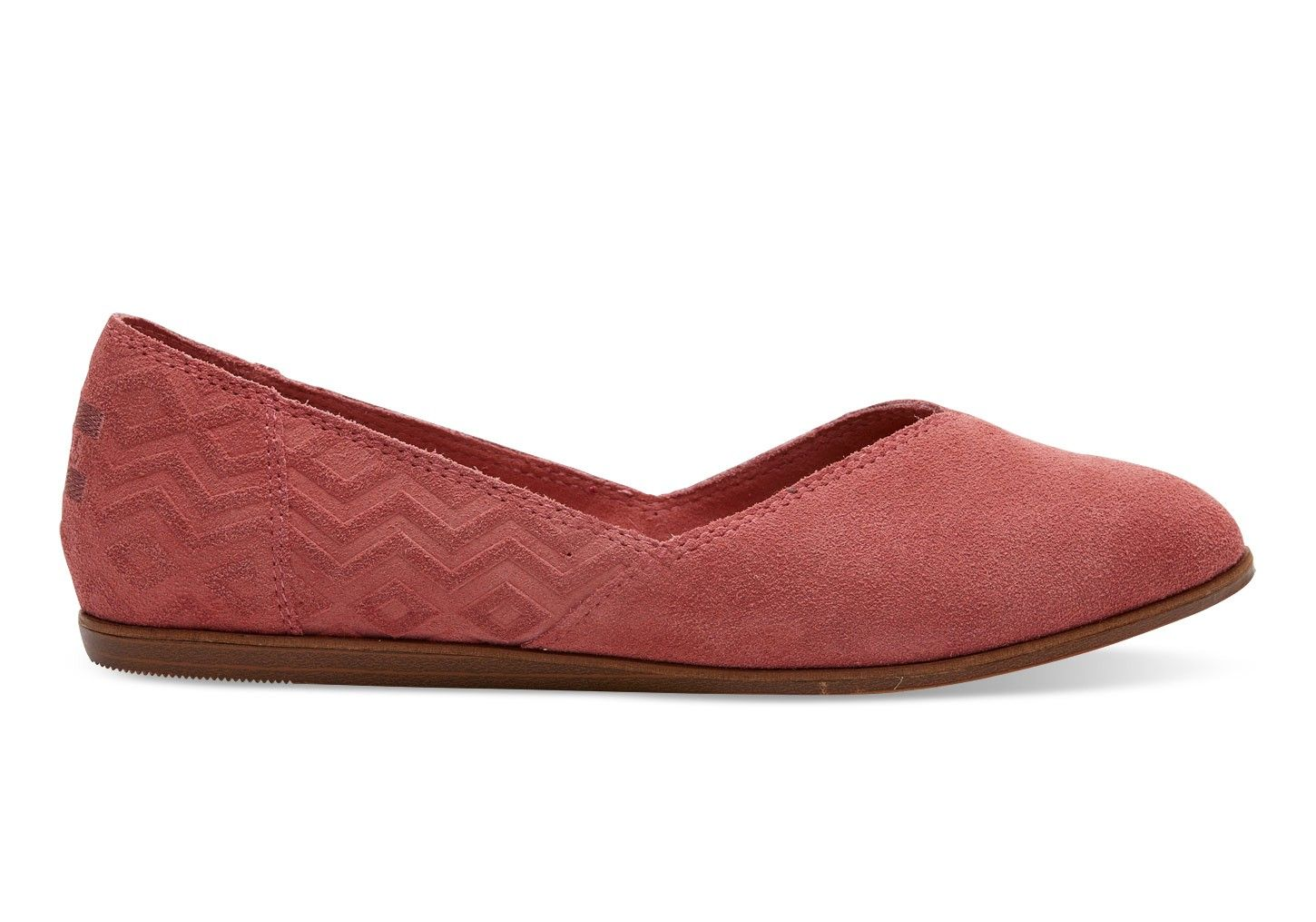 b2d43355409d TOMS Toms Faded Rose Suede Diamond Embossed Women S Jutti Flats Shoes.   toms  shoes  all
