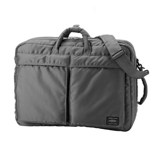 60474bce39 Porter-Yoshida   Co. Tanker 3Way Overnighter Briefcase - Silver Grey ...