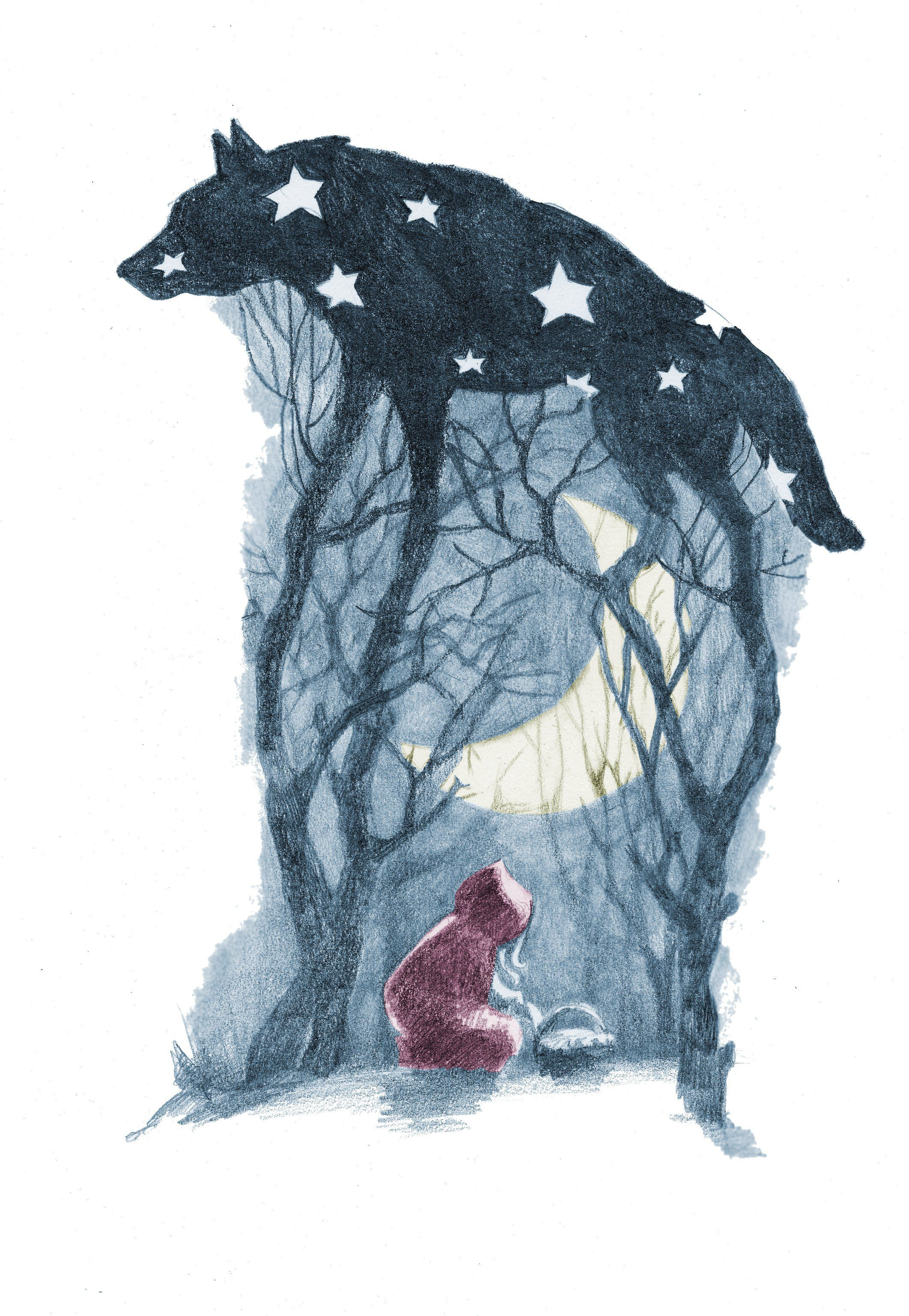 once upon a time boyxboy little red riding hood artworks little red riding hood illustration by olga kalinina
