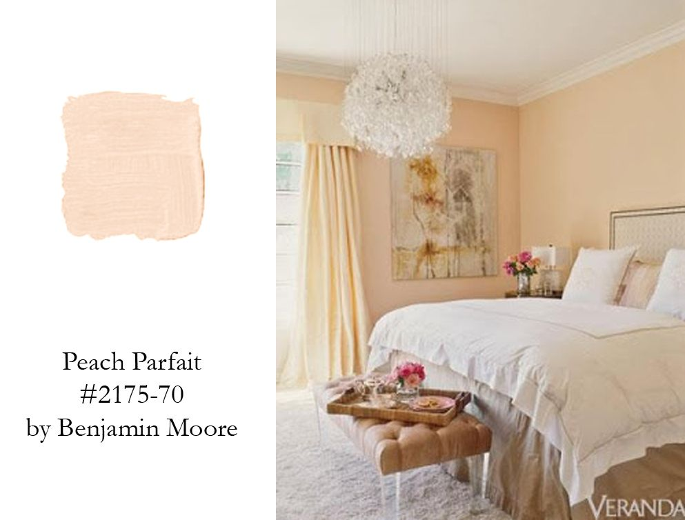 The Spare Bedrooms New Color Benjamin Moore S Peach
