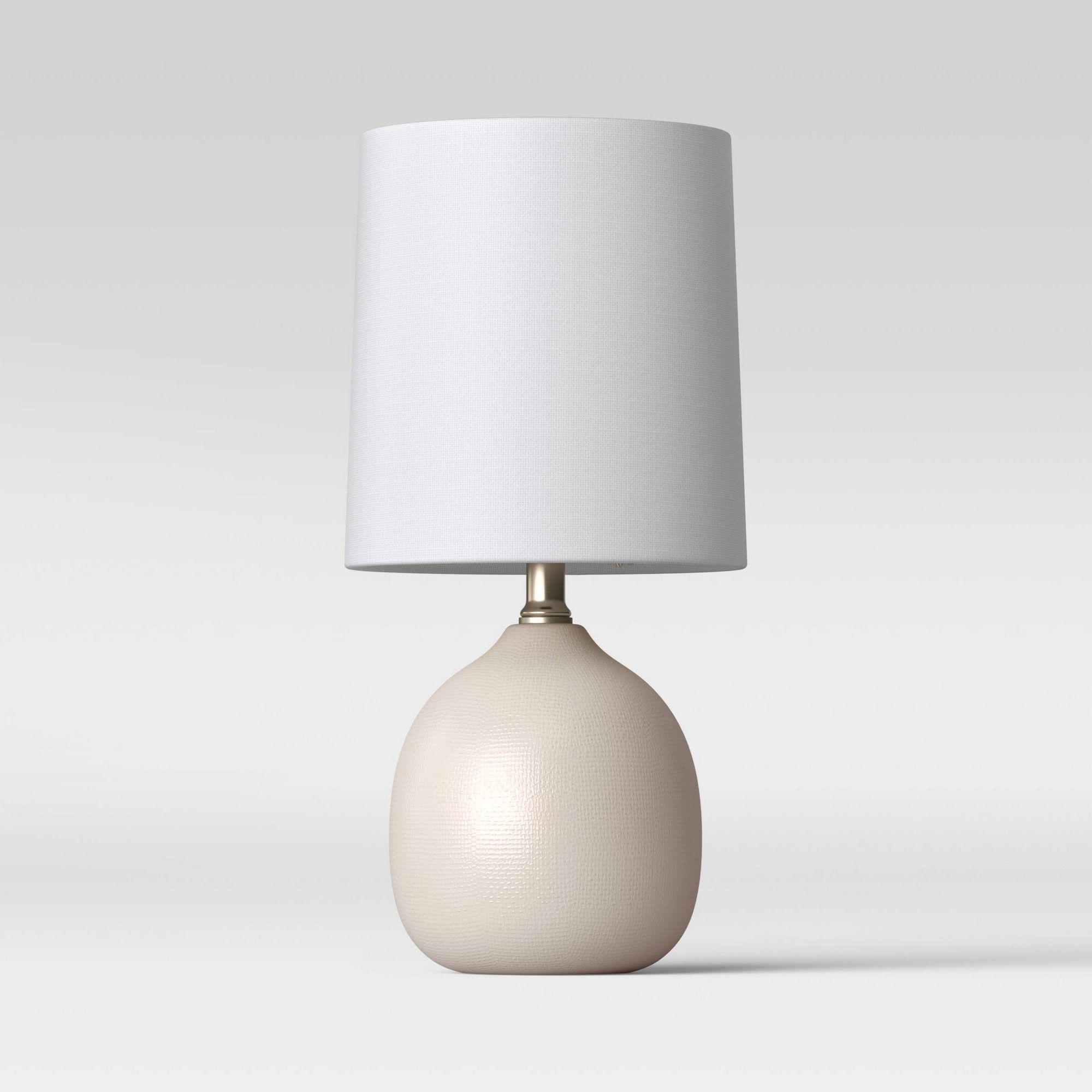 Threshold Ceramic Pattern Accent Lamp White Lamp Only Task