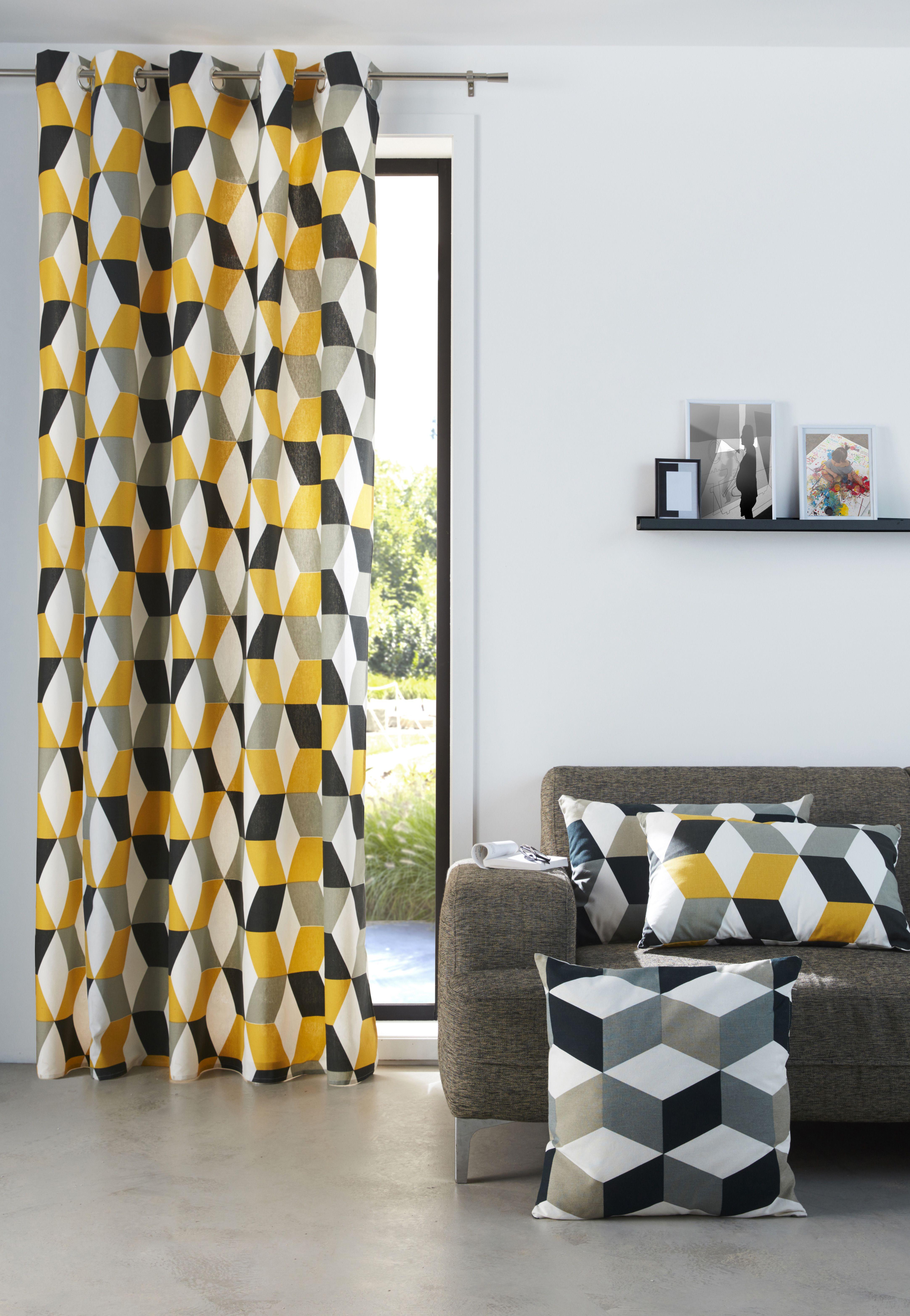 coussin bernau 3d gris 50 x 50 cm deco moderne les. Black Bedroom Furniture Sets. Home Design Ideas