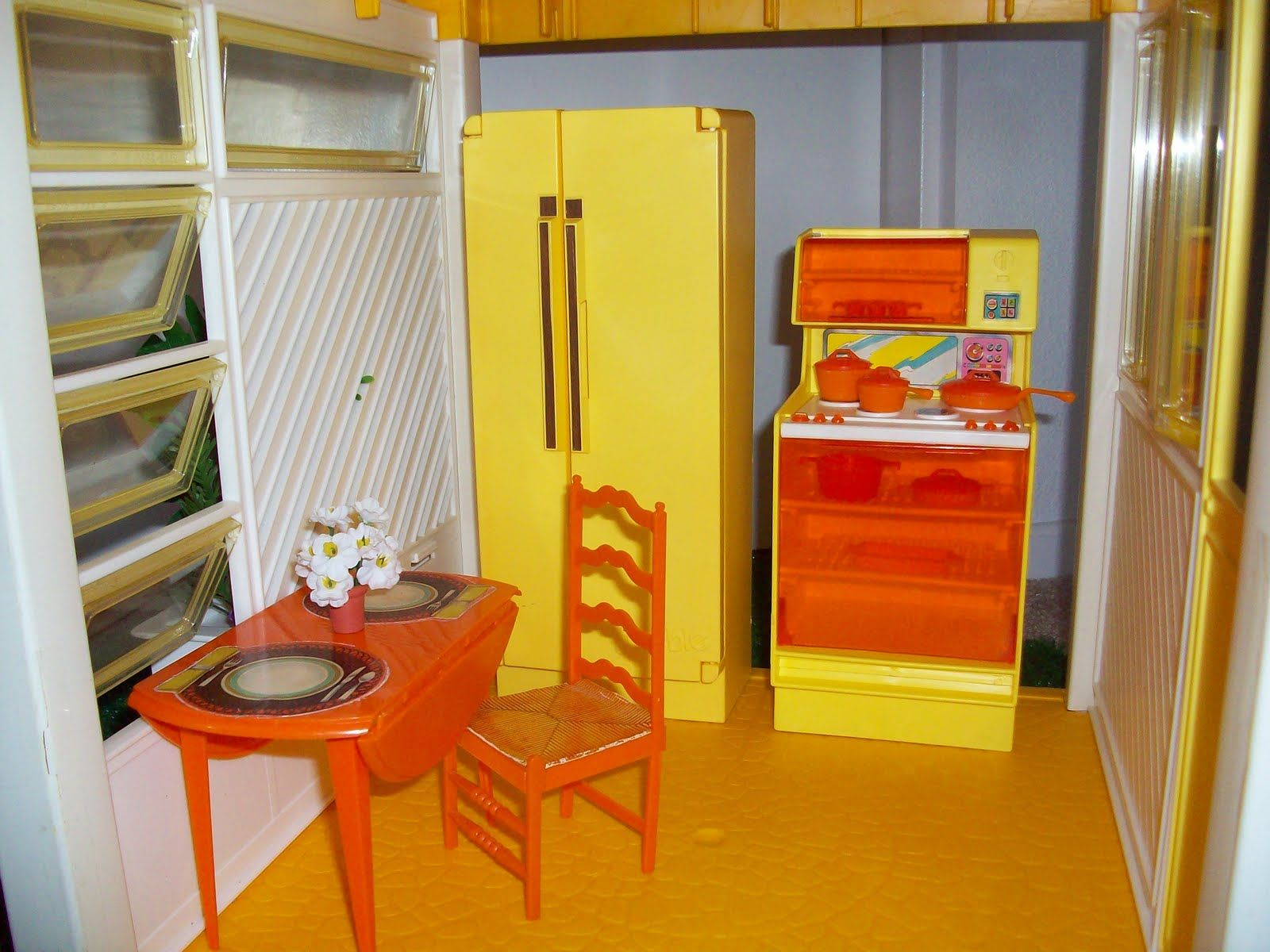 A Frame Kitchen Kitchen Of Barbies 1978 A Frame Dream House There Was No