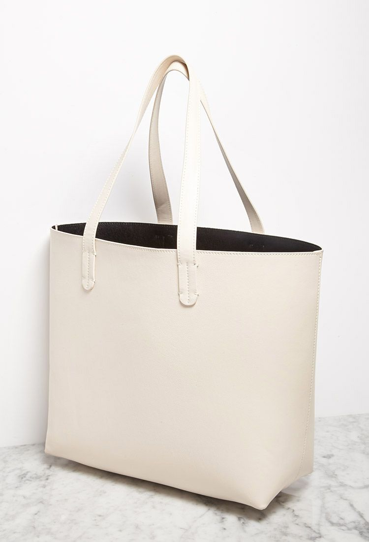 Faux Leather Tote and Pouch | Forever 21 - 1002247474 #Tote #Bag