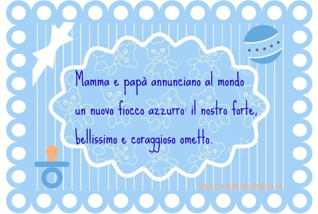 Frasi Auguri Per La Nascita Fiocco Azzurro Frasi Mammafelice Nascita Annuncio Nascita Fiocchi