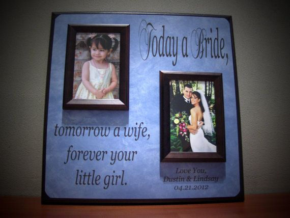 1be7c271db Personalized Wedding picture frame Today A by YourPictureStory, $60.00