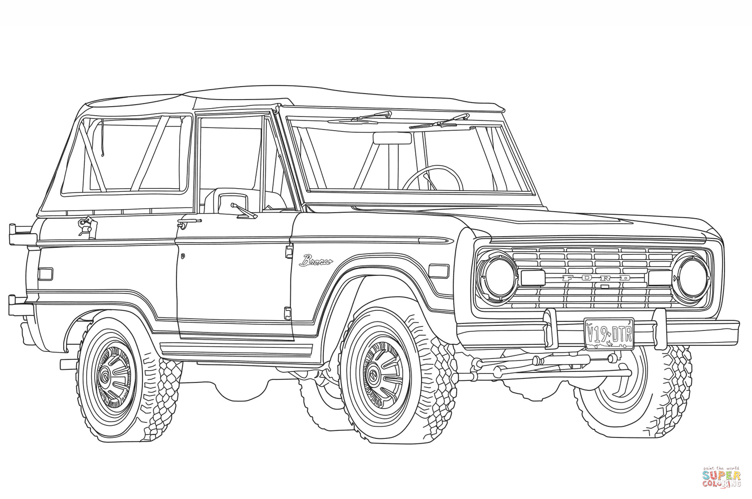 1966 Ford Bronco Super Coloring Ford Bronco Coloring Pages Bronco