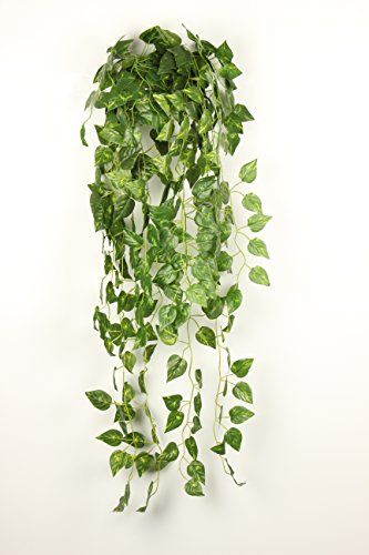Jzhy 2pcs 355atificial Fake Hanging Vine Plant Leaves Garden For