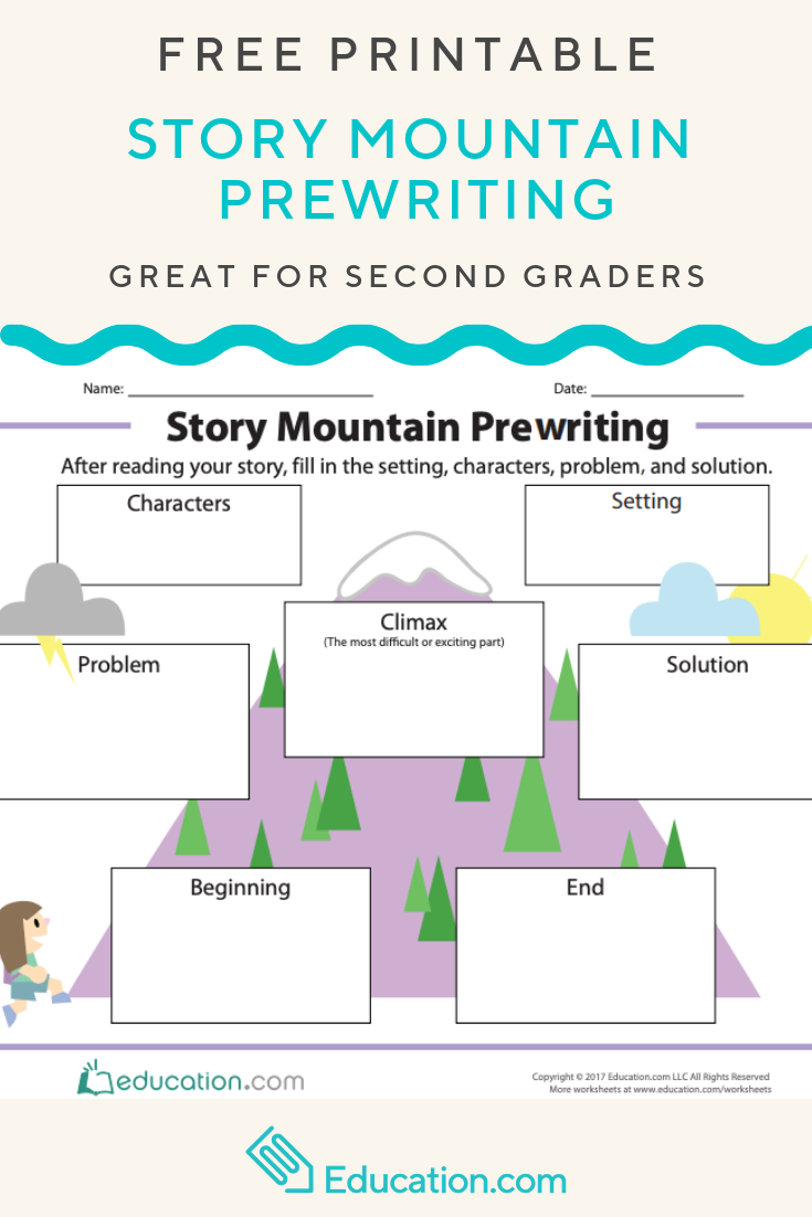 story mountain prewriting with this graphic organizer young writers will traverse the story mountain [ 735 x 1102 Pixel ]