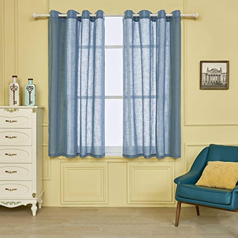 Fassbel panel set tulle voile linen yarn fabric sheer window