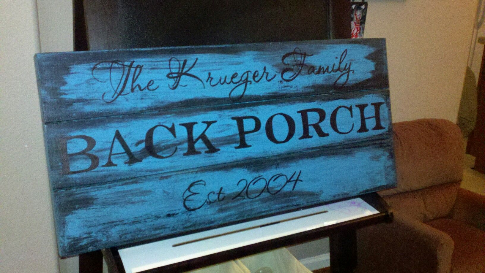 personalized back porch sign kowalik kreations pinterest