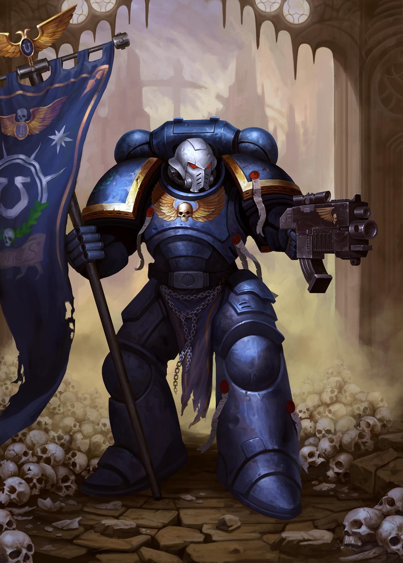 Primaris Space Marine by Anarchic Fox   Warhammer 40k artwork