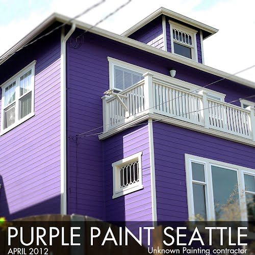 What Color Do I Paint My House: Purple House Painting In Seattle