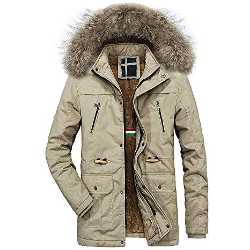 serliy#55357;#56859; Herren Jacke Parka Winddicht Coat