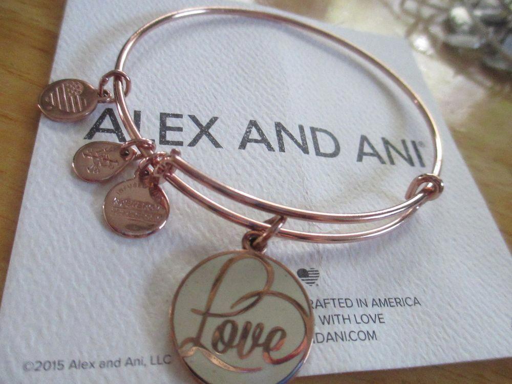 Alex And Ani Love Rose Gold Bracelet