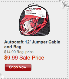Autocraft 12 Jumper Cables With Bag On Sale For Just 9 99 Holidayhorsepower Autocraft Bag Sale Jumper Cables Shop Now