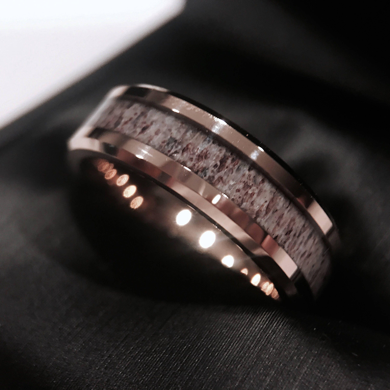 Dear Antler Ring Wedding Ring Deer Antler Wedding Band Etsy In 2020 Antler Wedding Band Deer Antler Wedding Band Rings For Men