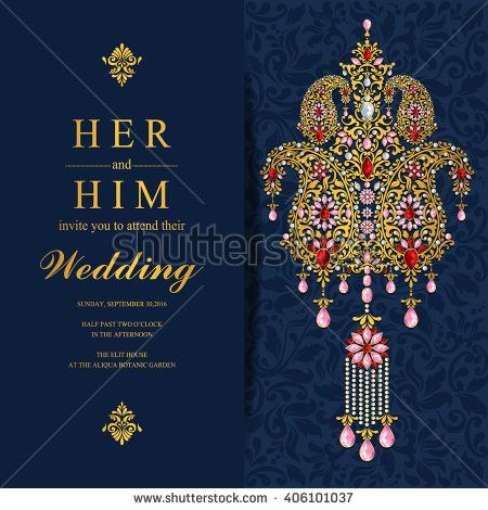 Wedding invitation or card with abstract background islam arabic wedding invitation or card with abstract background islam arabic indian dubai stopboris Images