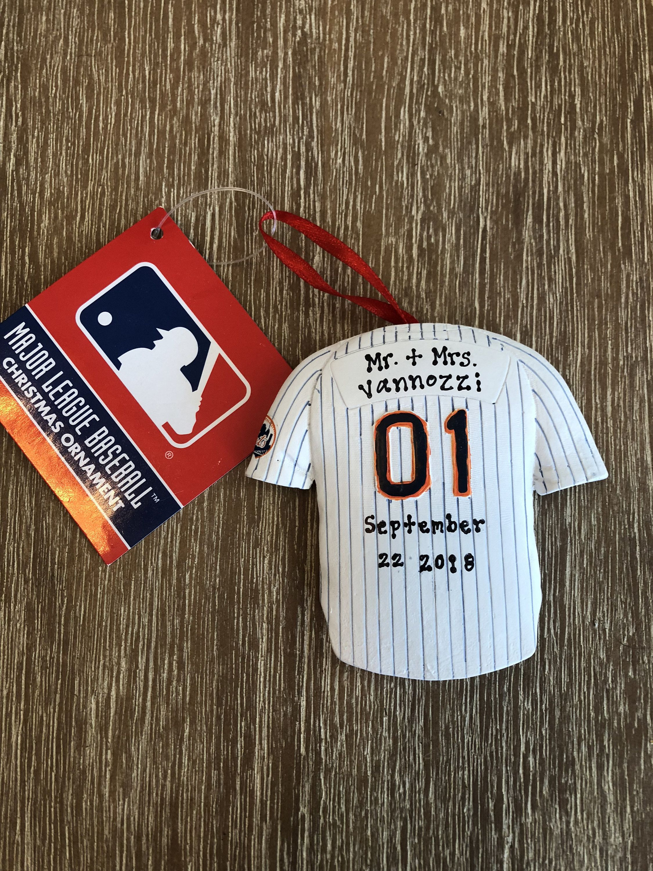 New York Mets Jersey Ornament Offical MLB Ornament NY Mets Gift ...