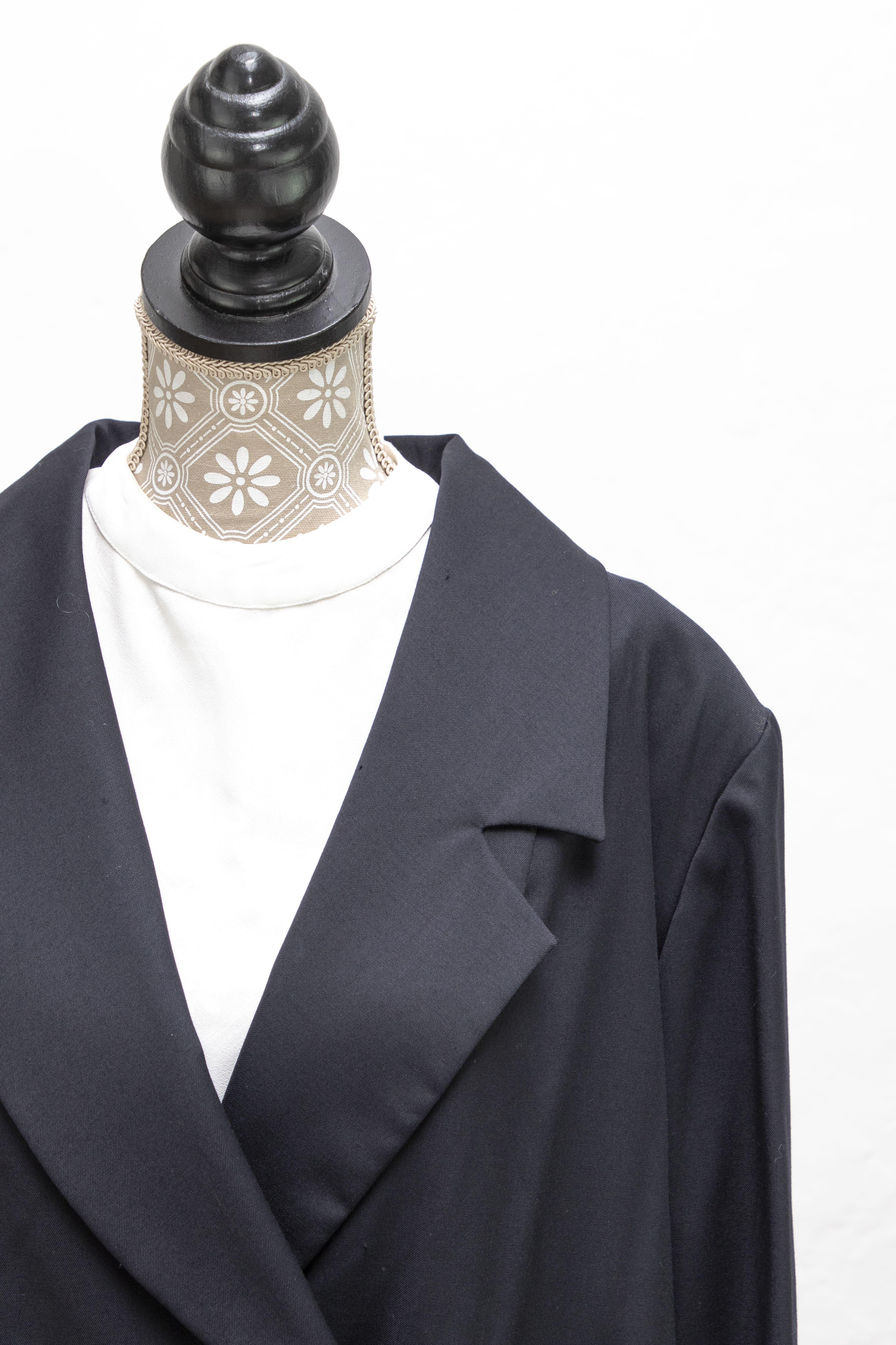 Giacca Elegante Autunnale Soprabito Nero Abbigliamento