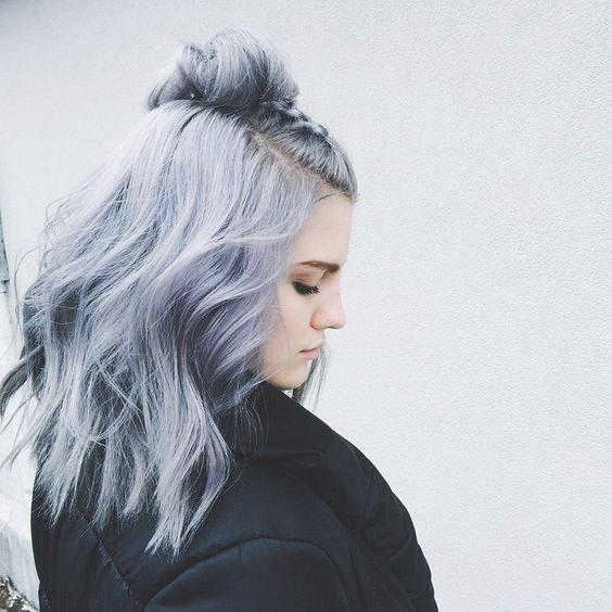 beautiful bun colored hair curly