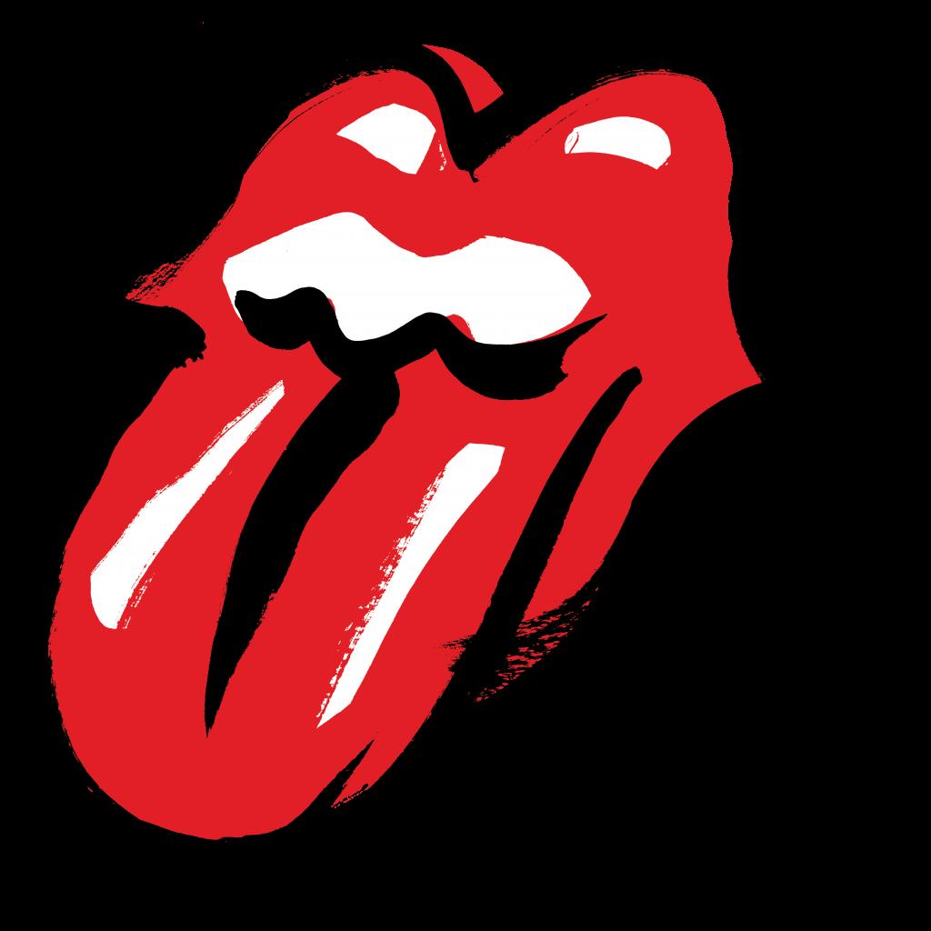 The Rolling Stones Brush Logo Lips Art