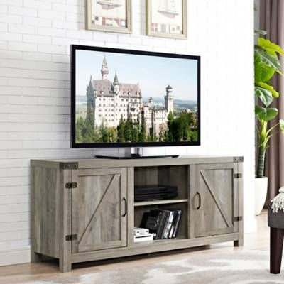 Forest Gate 58 Quot Wheatland Farmhouse Wood Barndoor Tv Stand