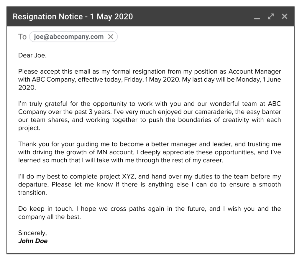 How to Write a Resignation Letter in 2020 How to write a
