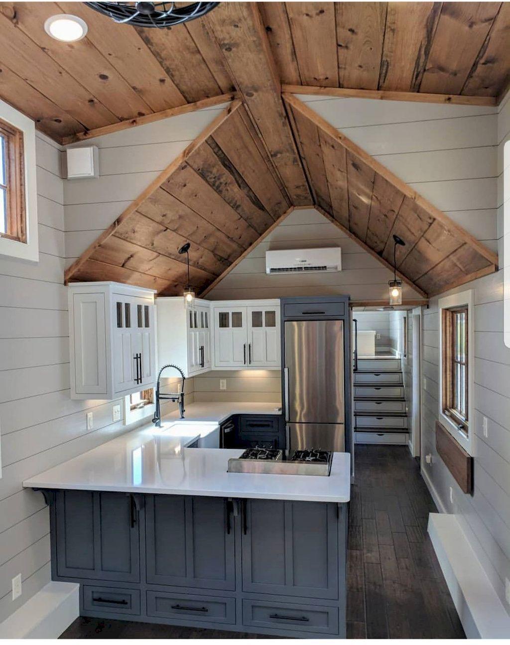 60 Tiny House Kitchen Storage Organization and Tips Ideas - Decoradeas #tinyhousestorage