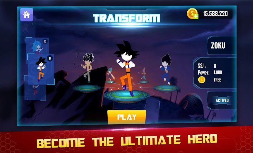 Stick Z Super Dragon Fight Mod Apk V1 23 Unlimited Money Beans Chiến Binh Android Tro Chơi