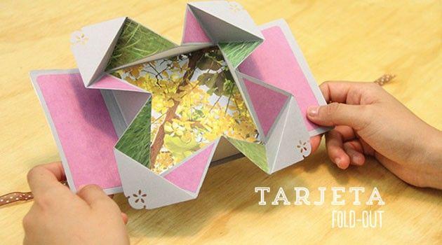 Tarjeta Plegable Para Regalar Manualidades Tarjeta Origami