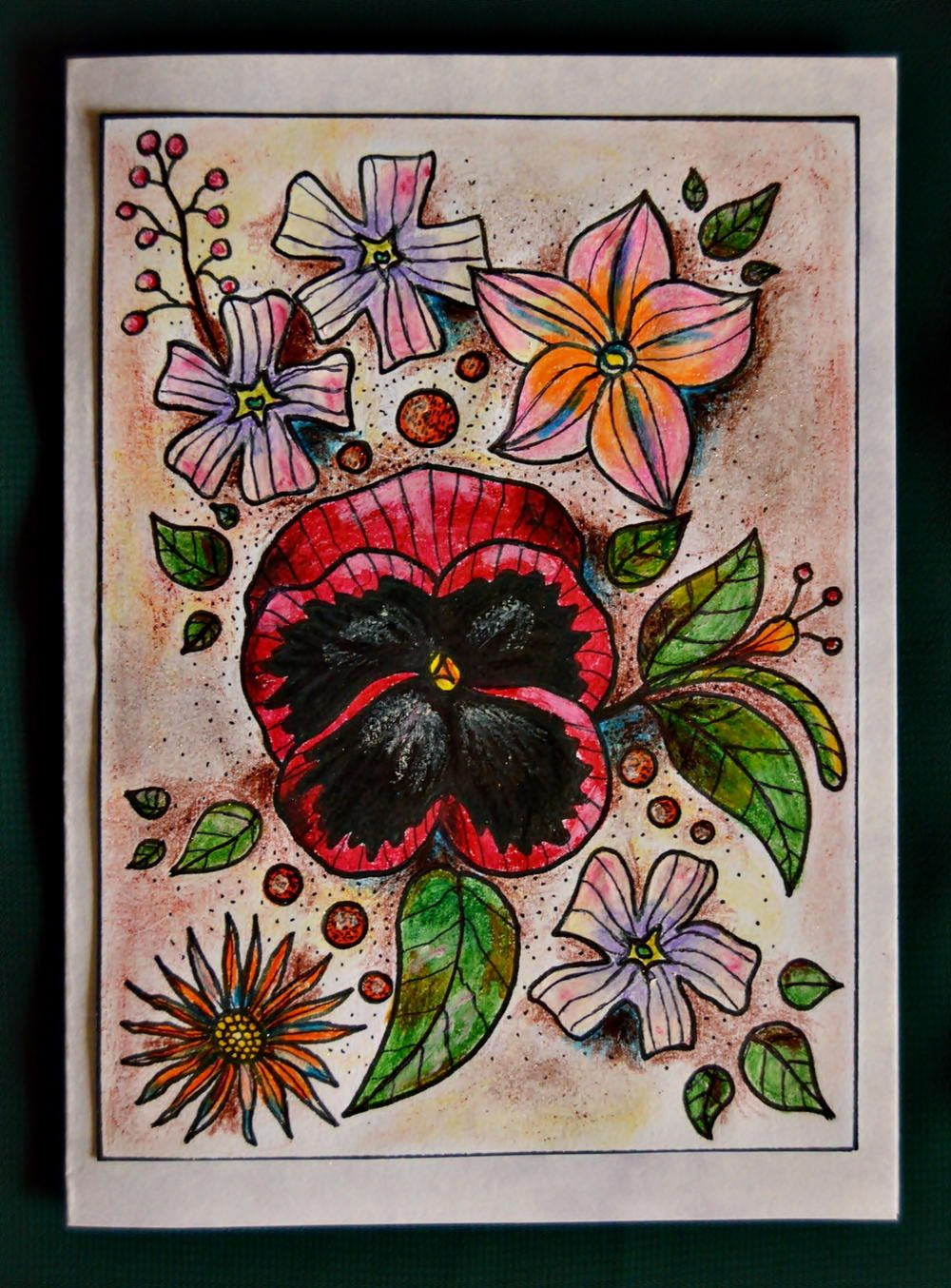 Floral Fusion Homemade Birthday Card | Homemade birthday cards ...