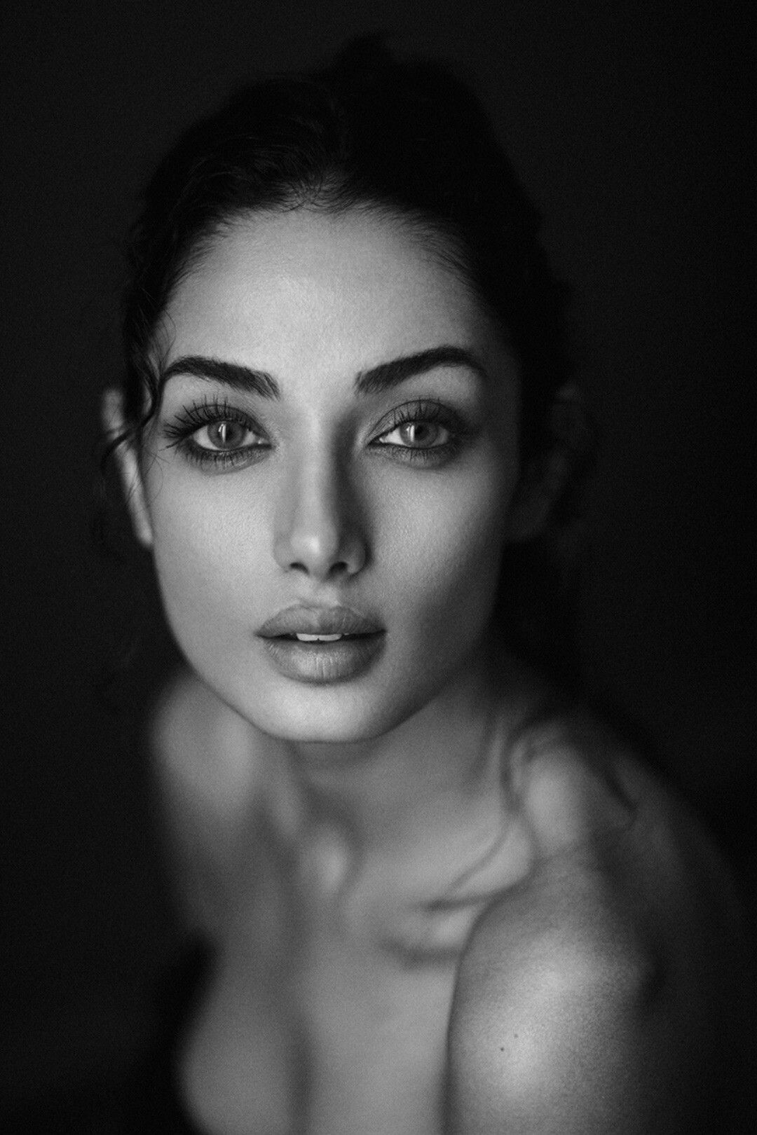 Rostro black and white portrait photography