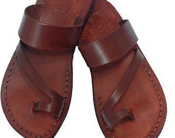 Jezus sandalen, lederen sandalen voor mannen, Griekse sandalen voor  vrouwen, platte sandalen, strappy sandalen, Griekenland sandalen, zomer  wandel …