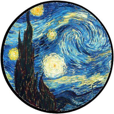 Pegatina Noche Estrellada De Katietruppo Starry Night Wallpaper Starry Night Van Gogh Starry Night
