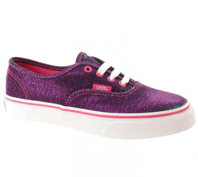 ff2efafe95 Vans-Authentic-Shimmer-Magenta-Glitter-Sparkly-Womens-Girls-Trainers -Plimsolls