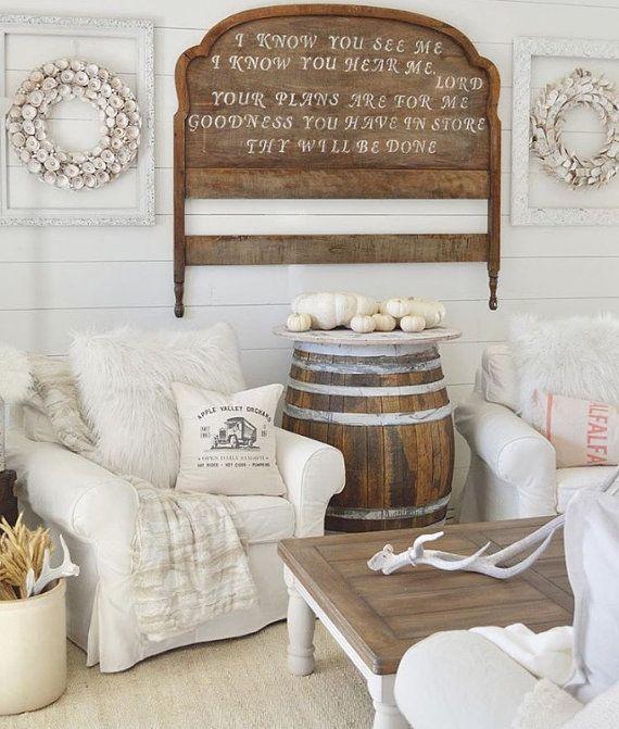 46 Best Farmhouse Home Decor Ideas You Will Totally Love: Ferme Oreiller Housse Apple Orchard Ad Par