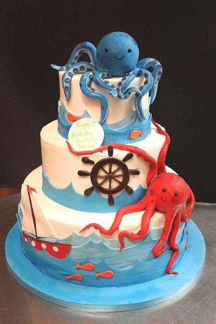Sea Cake Sea cakes Cake and Nautical cake