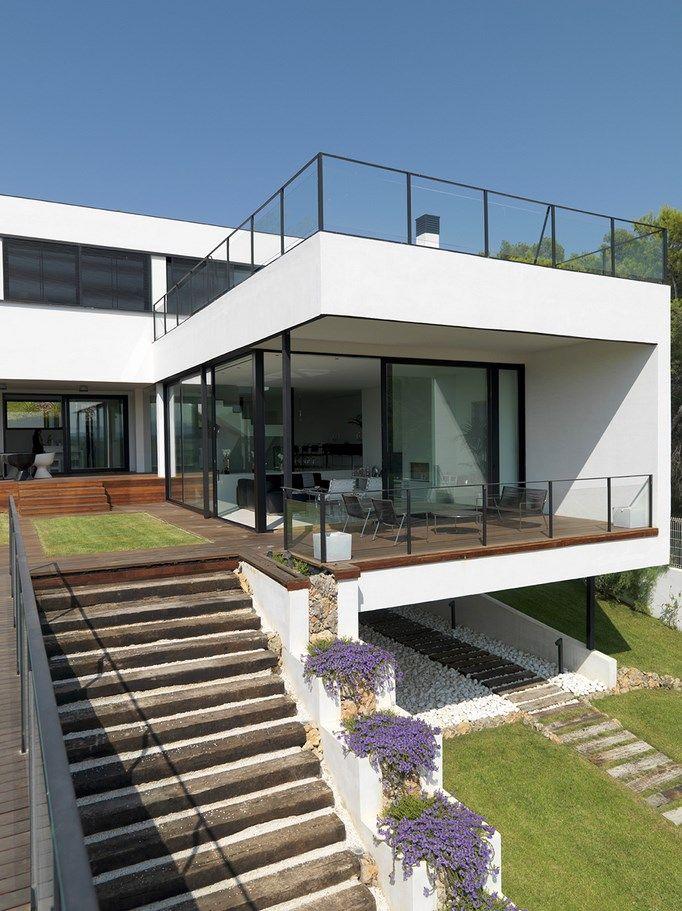 Casas en desnivel google search ideas casa casas - Terreno con casa ...