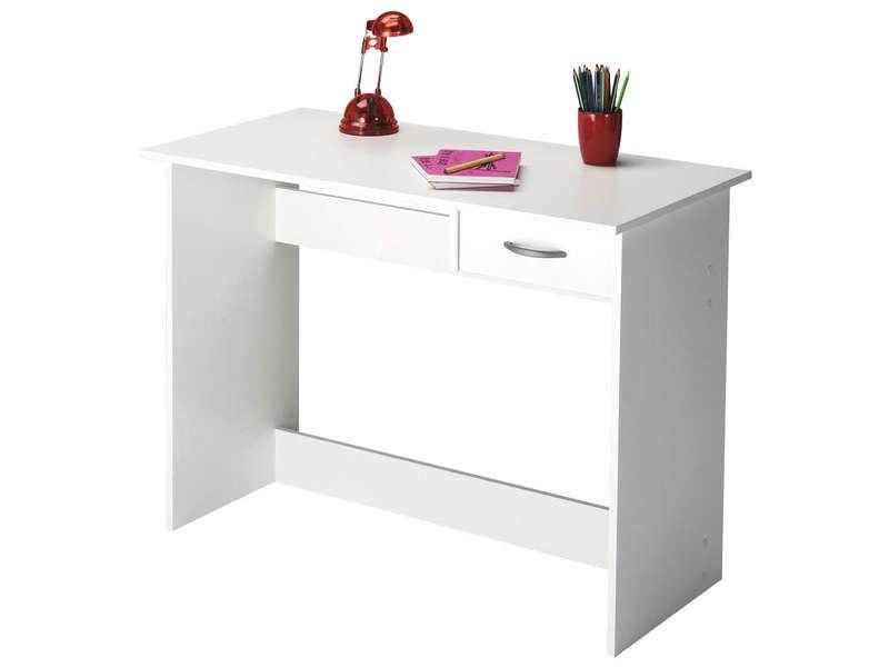 Bureau 1 Tiroir Alpin Coloris Blanc Vente De Bureau Conforama Bureau Blanc Bureau Pas Cher Bureau