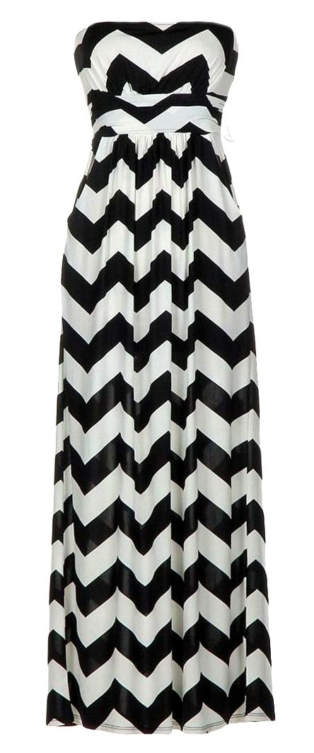 c181fbe6cd7 Chevron zig zag maxi dress